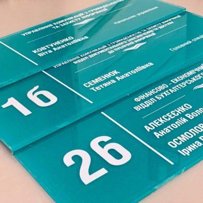 Создание табличек с помощью УФ печати