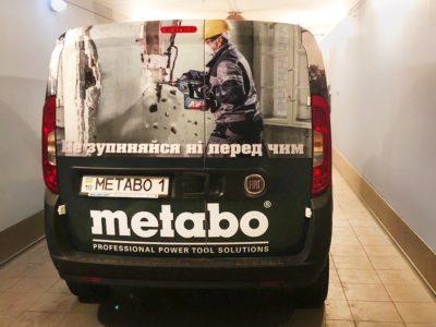 Оклейка коммерческих автомобилей компании Metabo