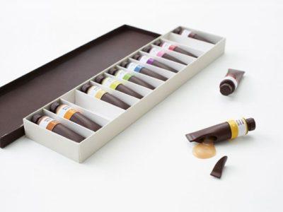 Дизайн упаковки десерта - Шоколад в форме масляных красок