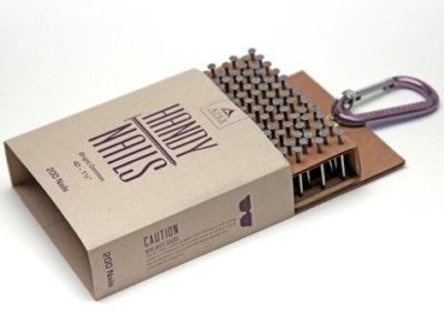 Дизайн упаковки для набора из 200 гвоздей, Handy Nails