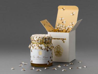 Красивый дизайн упаковки для банок с медом