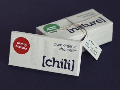Дизайн упаковки Organic Chocolate, созданный из экоматералов