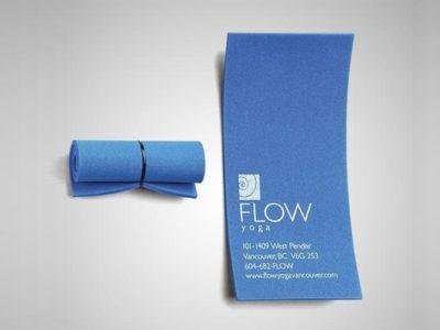 Уникальная визитная карточка салона для йоги. Flow