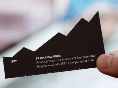 Нестандартная бизнес карточка персонального финансового брокера
