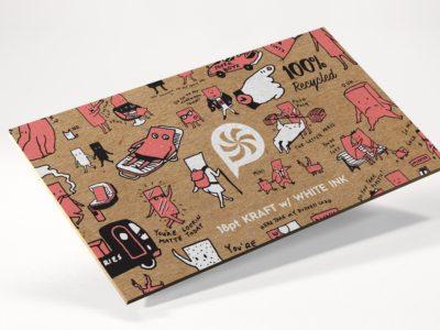 Экологические визитки входят в моду. Визитки сделанные из переработанного картона.