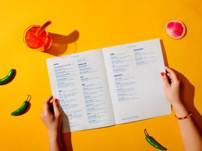 Печать ресторанного меню